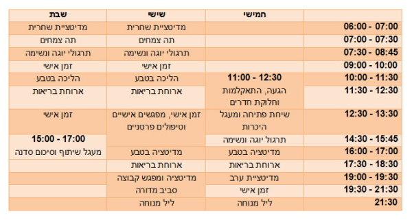 schedule Moa