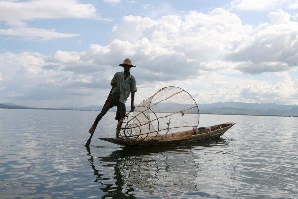 fisherman in Mayanmar