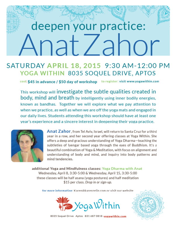 Anat Zahor Yoga within Aptos 2015