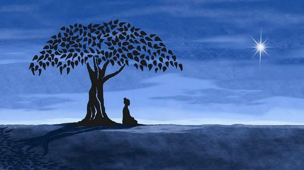 buddha-under-tree-with-moon