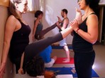yoga leg strech