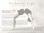 Piedmont Yoga workshop with Anat Zahor