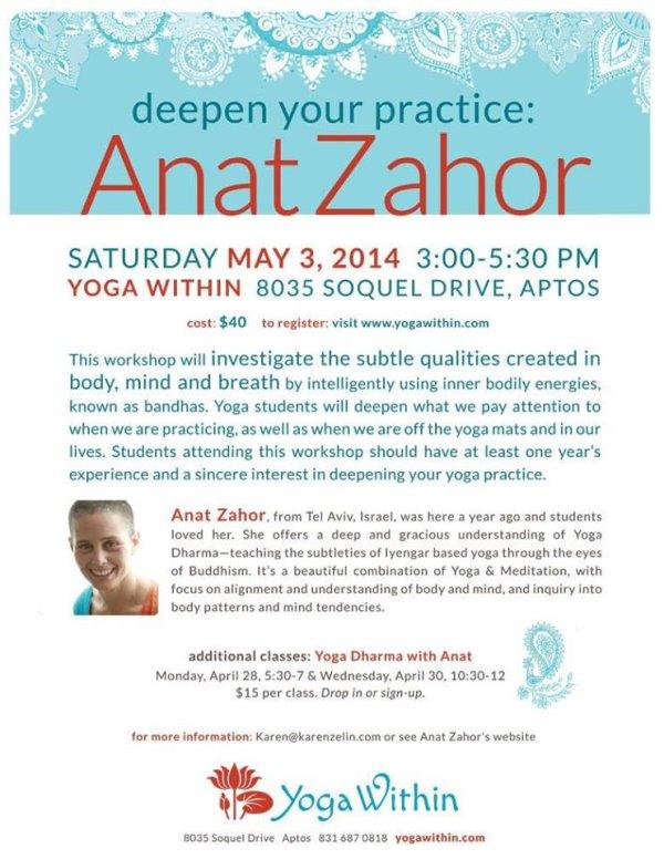 Yoga within Santa Cruz - 2014 Anat Zahor site